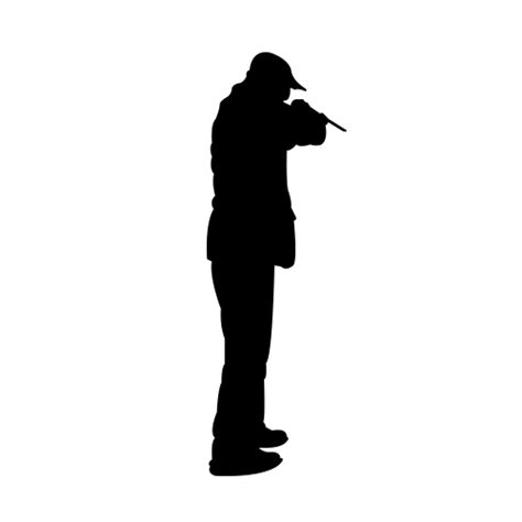 man shooting a gun silhouette life size vinyl wall decals