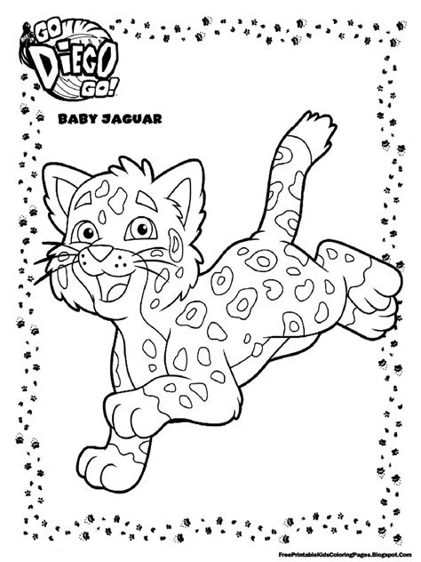 diego baby jaguar coloring pages printable free