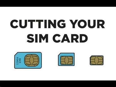 Cutting A Sim Card To Fit Iphone 5 Template by Cut Your Sim Card Into A Nanosim Card With