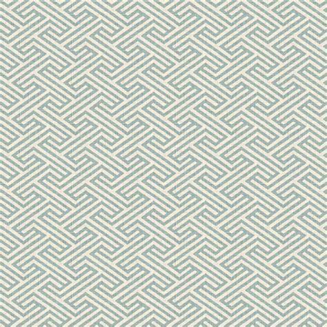 Geometric Drapery Fabric aqua geometric maze linen fabric contemporary drapery