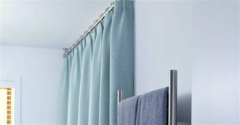 ceiling mounted shower curtain bathroom update ceiling mounted shower curtain rod