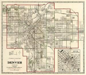denver map vintage map of denver map by ancientshades