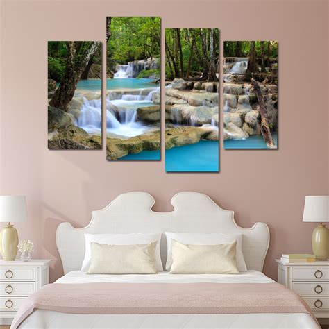 4pcs forest wall painting ᗛ picture