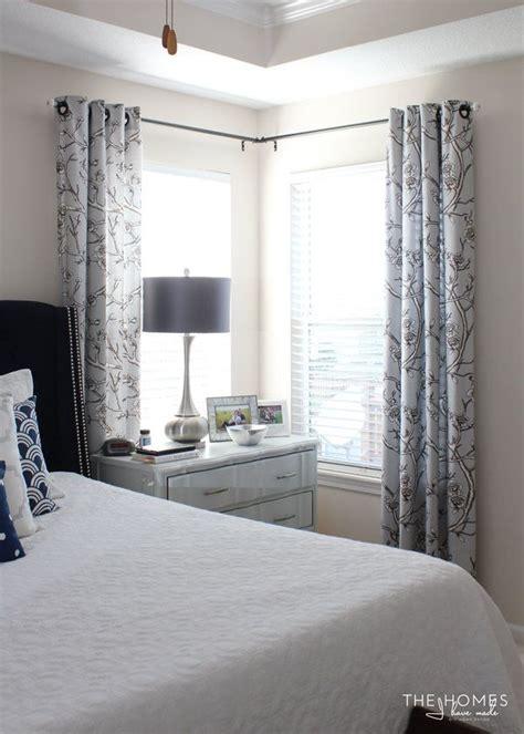corner window curtains ideas  pinterest