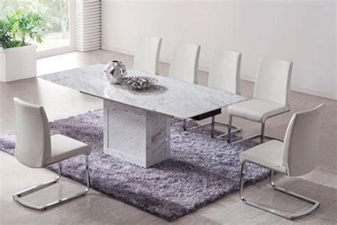Extending Marble Dining Table White Marble Extending Dining Table And 6 Chairs Set Ebay