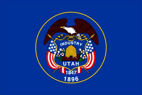 utah flag ut flag state flags flags of the usa