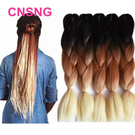 ombre synthetic braiding hair ombre kanekalon braiding hair synthetic jumbo braiding