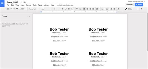 google docs avery templates image collections templates