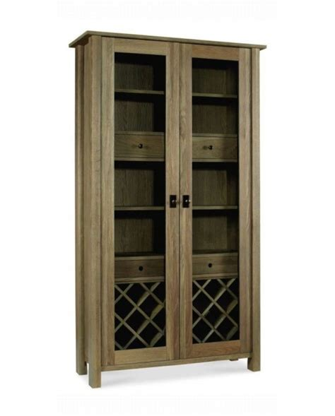 Wine Storage Cabinets Ireland by Coniston Smoky Oak Display Cabinet With Wine Rack Shop