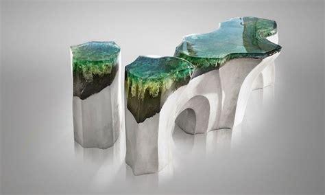 artistic acrylic furniture inspired  nature  eduard locota