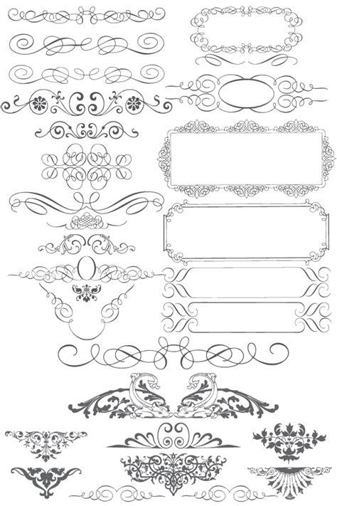 calligraphic design elements vector free download free vector ornaments calligraphic elements 123freevectors