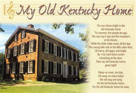 printable lyrics to my old kentucky home kentucky my old kentucky home song kentucky