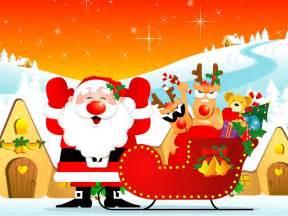imagenes de navidad fondos de santa claus feliz con regalos fondos de