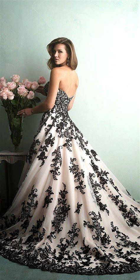 White Black Wedding Dresses by Black And White Wedding Dress Hi Miss Puff Wedding