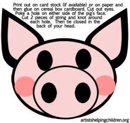 pig mask template best photos of pig nose template pig ear template