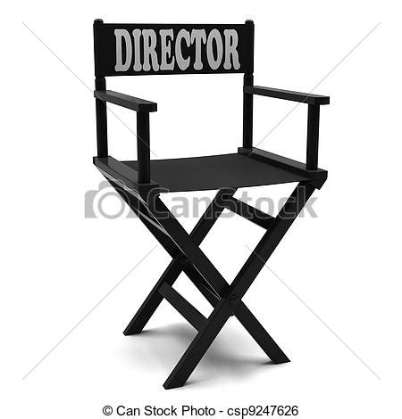 movie director chair clip art stock illustration of flim industry directors chair on a