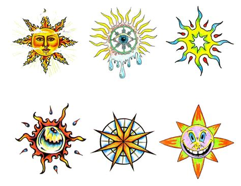 colorful sun tattoo designs sketch sun tattoos part 3 3d tattoos images