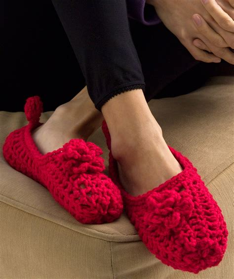 the slipper and the free sole slippers crochet pattern