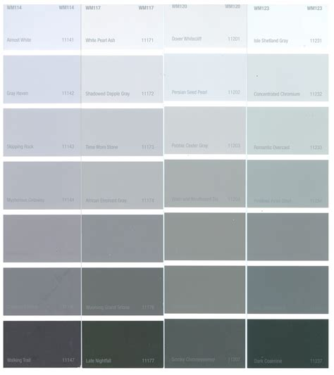 shades of grey color names tbo