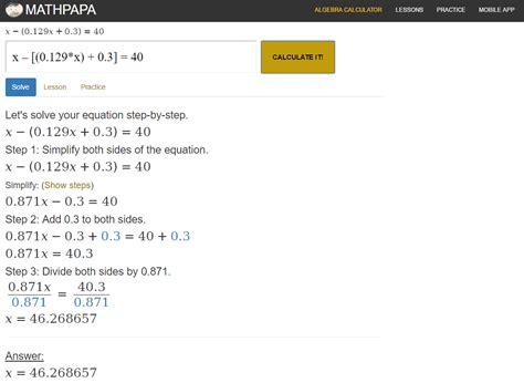 calculator math algebra help calculator