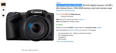Power Canon Sx430 Is canon powershot sx430 is in stock on india price