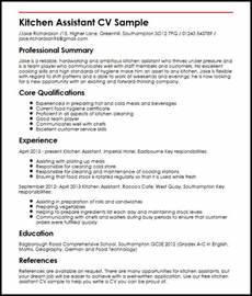 Sample resume for kitchen staff kitchen assistant cv sample kitchen assistant cv sample myperfectcv yelopaper Gallery