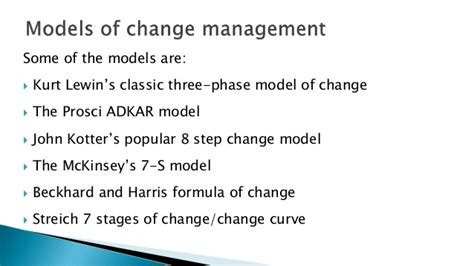 kotter change model pros and cons adkar and kurt lewin models compared