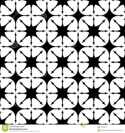 seamless arrow pattern black and white geometric seamless pattern with arrow head