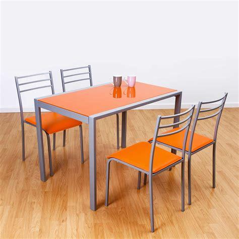 sillas de cocina conjunto de mesa y 4 sillas alfa en colores muebles