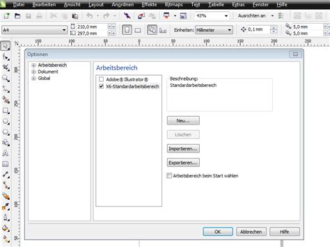tutorial de corel draw x6 coreldraw x6 voreinstellungen arbeitsbereich corel