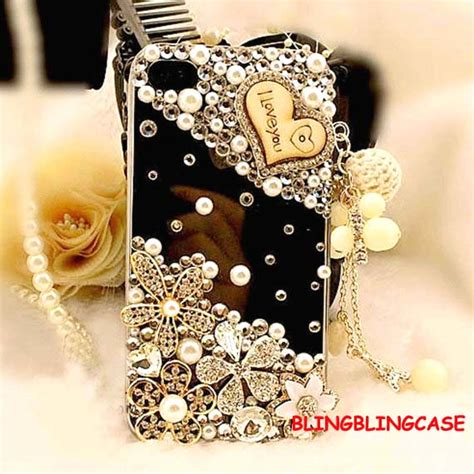 Blingcase Studed For Iphone iphone 4 bling iphone 4 flower vinage iphone 4s pearl iphone 4