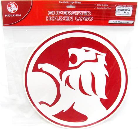 lion car symbol holden lion red badge logo large mega car spot sticker