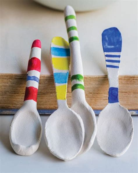paper clay crafts diy paper clay spoons crafts