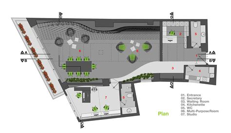 studio 54 floor plan galeria de est 250 dio diyar media rena design 19