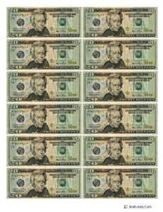 best photos of printable play money actual size 1 dollar