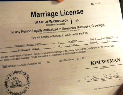 Washington State Marriage Records As Same Couples Obtain Marriage Licenses
