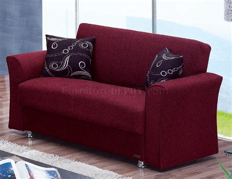 Burgundy Loveseat by Ohio Sofa Bed In Burgundy Fabric By Empire W Optional Loveseat