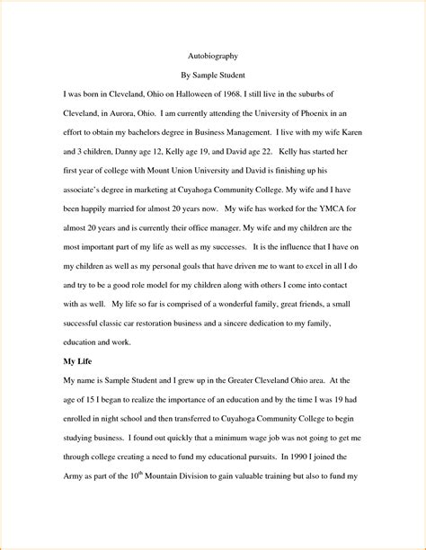 student bio template all depiction sample of biography example