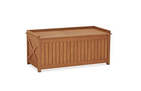 pottery barn storage bench montego bay patio deck box