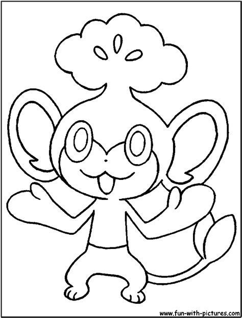 pokemon coloring pages pansage pansage coloring page
