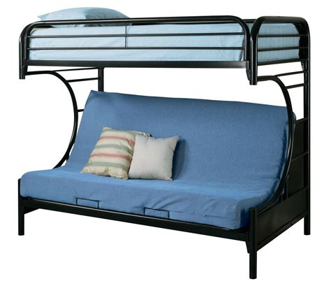 Black Futon Bunk Bed Coaster Youth Futon Bunk Bed In Black 2253k