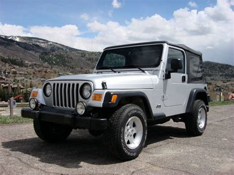 how to sell used cars 2005 jeep wrangler transmission control sell used rare 2005 jeep wrangler tj sport 4 0l dana 44 rear axle a c silver soft top in