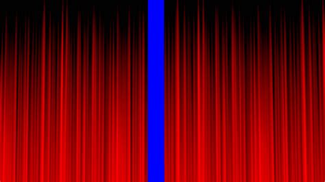 theatrical drapery stage curtain blue screen clean red royalty free video