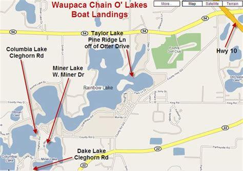 boat landing waupaca waupaca chain o lakes boat landing information waupaca