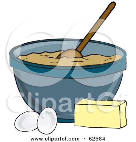 Wooden Kitchen Canisters royalty free rf clipart illustration of a bowl of dough
