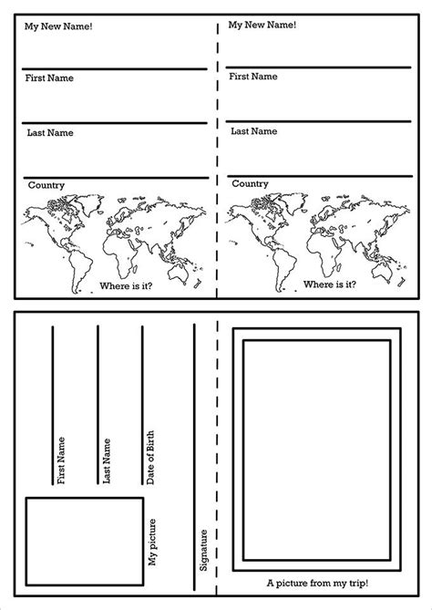 Passport Templates For Teachers by 25 Best Ideas About Passport Template On