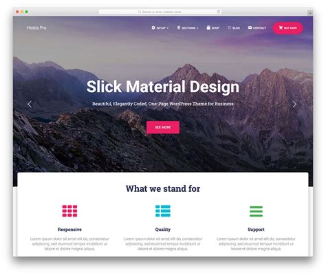 wordpress splash page template 17 best material design themes 2019 colorlib