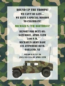Camouflage Invitation Template by Camouflage Army Birthday Invitations
