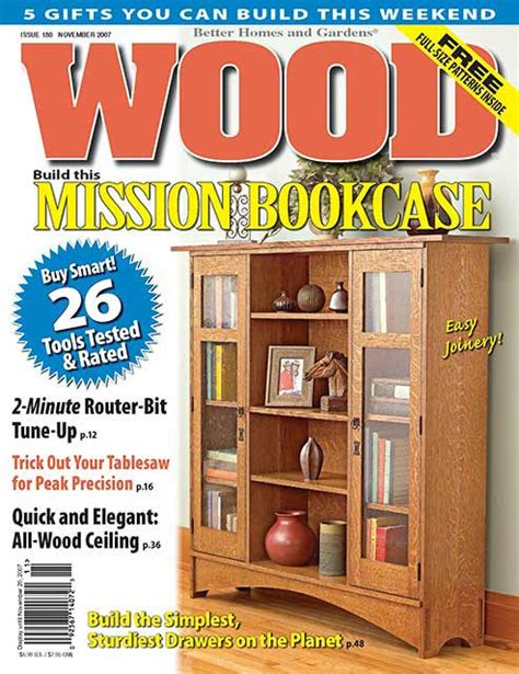 woodworking magazine index wood issue 180 november 2007 woodworking plan from wood