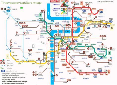 transport for map cast prague